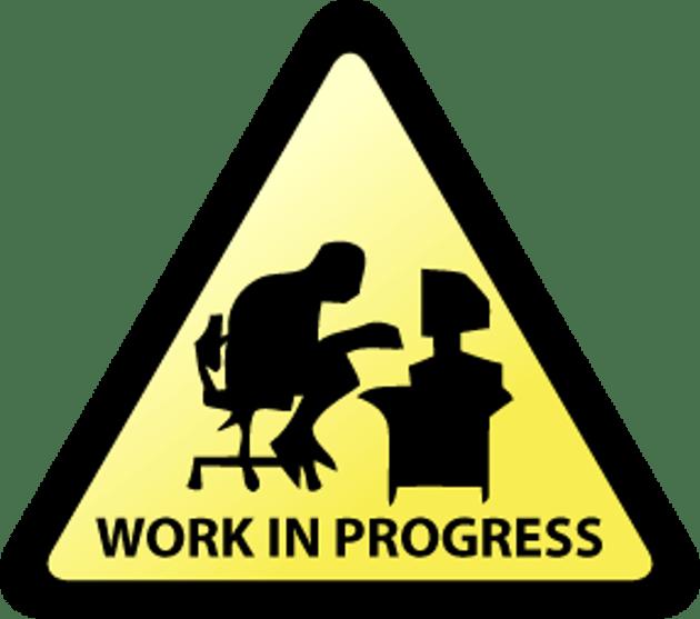 Risultato immagini per work in progress